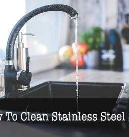 how to clean stainless steel sink