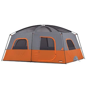 core 10 person straight wall cabin tent for hot weather