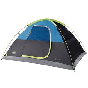 coleman 6 person dark room sundome tent