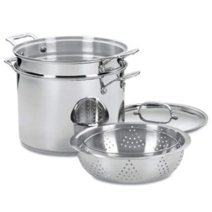 cuisinart 77-412 chef's classic stainless steel 4 pc pasta and steamer set