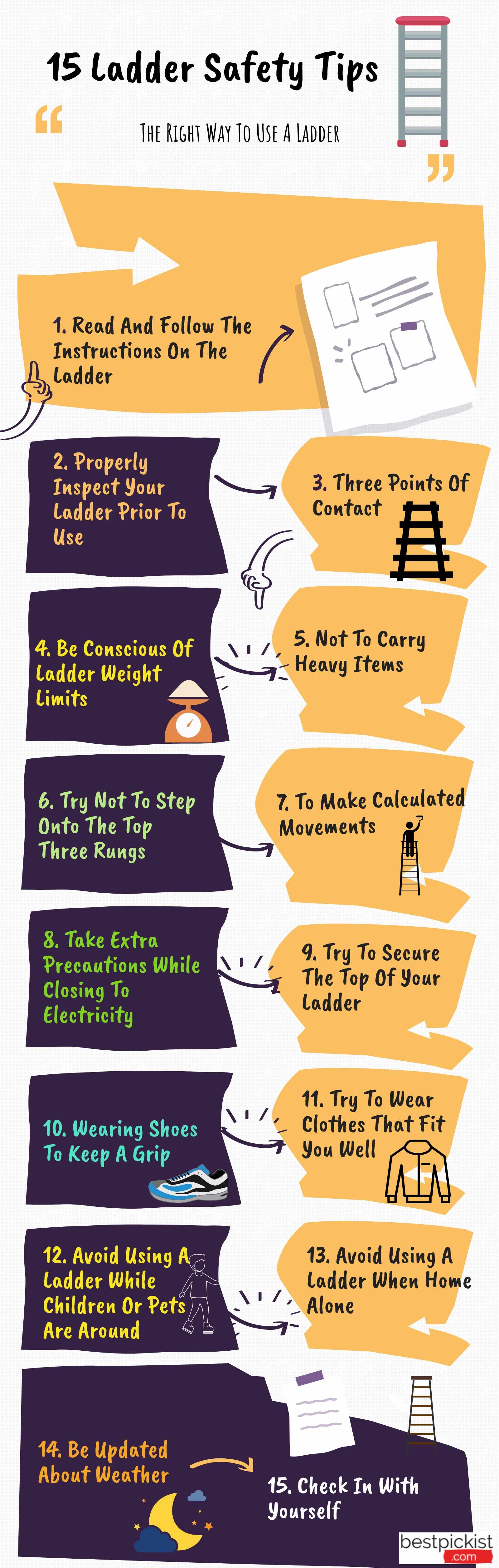 ladder safety- 15 tips