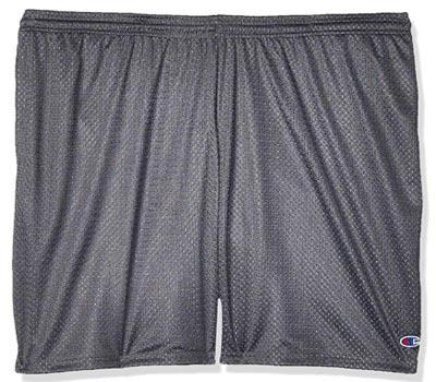 champion men's long mesh basketball short with pockets