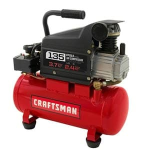 craftsman 3 gallon oil lube 135psi portable air compressor with 3 piece kit