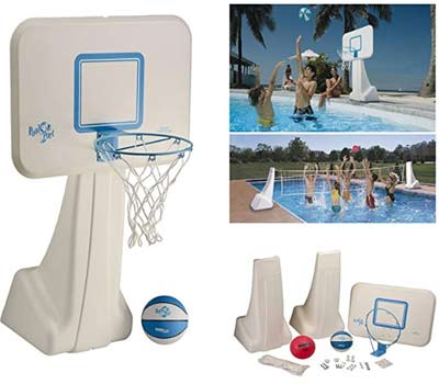 dunnrite products pool sport 2 in 1 swimming basketball hoop