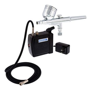 master airbrush multi-purpose airbrushing system kit with portable mini air compressor