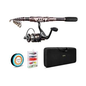 Best Beginner Fishing Rod Kits- plusinno fishing rod and reel combos carbon fiber telescopic fishing rod