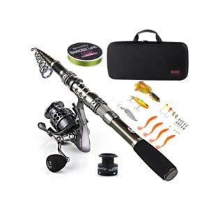 sougayilang fishing rod combos with telescopic fishing pole- Best Beginner Fishing Rod Kits