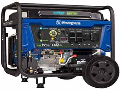 westinghouse wgen9500DF dual fuel generator