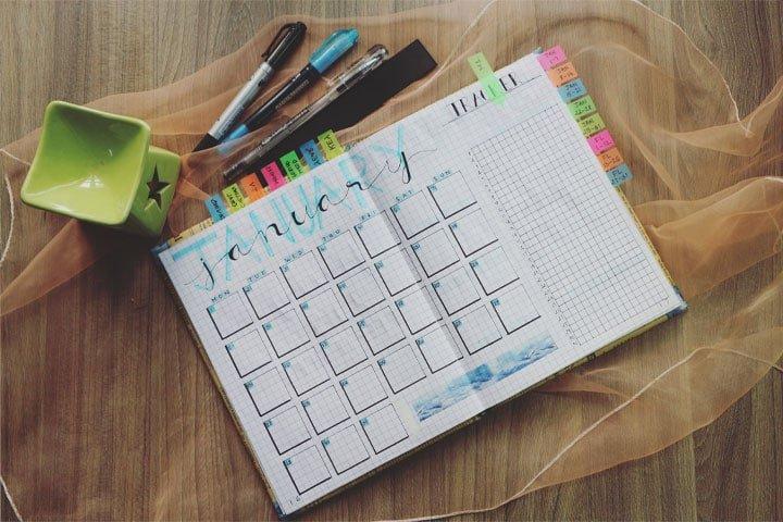 create a master calendar