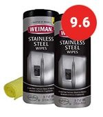 weiman stainless steel cleaner and polish wipes