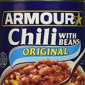 armour star chili with beans