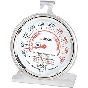 winco tmt 3-inch dial oven thermometer