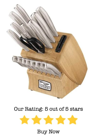 chicago cutlery 18 piece steel knife set review