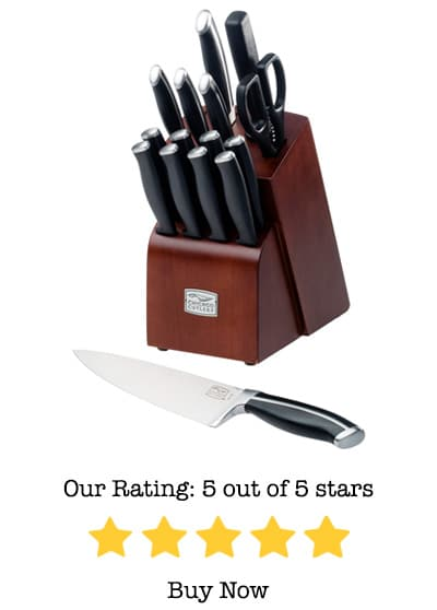 chicago cutlery belmont 16-piece knife block set review