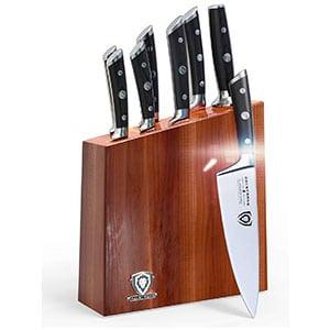dalstrong knife set block german hc steel - pakkawood handles - 8 pc