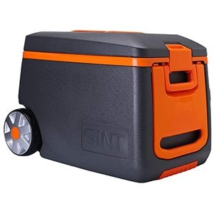 gint rolling cooler with handle, 53 quart ice chest cooler with wheels