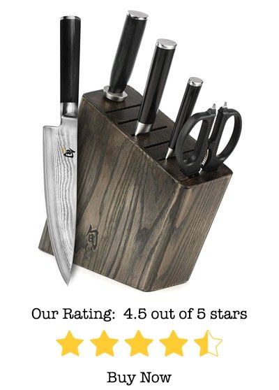 shun classic 6-piece slim knife block set review