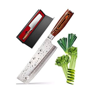 usuba japanese chef knife -sharp knife - kitchen knife - stainless steel high carbon pro chef knife