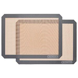 gridmann pro silicone baking mat - set of 2 non-stick half sheet
