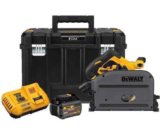 handling the dewalt flexvolt 60v max track saw