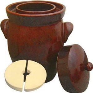 k&k keramik german made fermenting crock pot