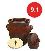 kerazo 7 l k&k keramik german made fermenting crock pot f2