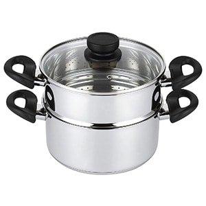 mockins 3 piece premium heavy duty stainless steel steamer pot