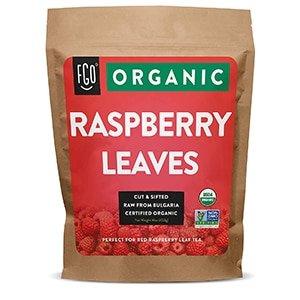 organic red raspberry leaf | herbal tea (200+ cups) | cut & sifted leaves