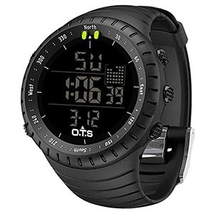 palada men's digital waterproof tactical watch with led backlight for men