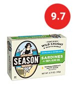 season's skinless and boneless sardines in pure olive oil. imported from morocco 3.75oz (pack of 12)