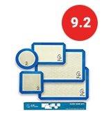 baking mats set of 5-2 half sheets mats + 1 quarter sheet liner + 1 round & 1 square cake pan mat