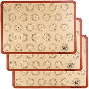 silicone macaron baking mat - set of 3 half sheet