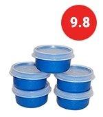 tupperware smidget container 1oz set of 5 blue