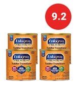 enfagrow premium toddler transitions baby formula milk powder, 20 ounce (pack of 4), omega 3 dha, iron