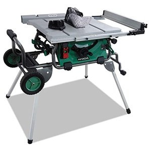 "hitachi c10rj 10"" 15-amp jobsite table saw with 35"" rip capacity"