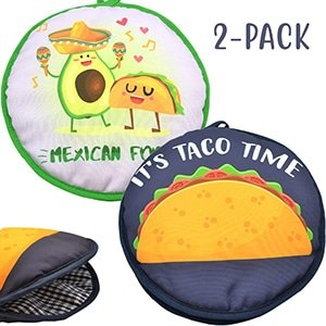 microwaveable x-large tortilla warmer pouch 2 pack