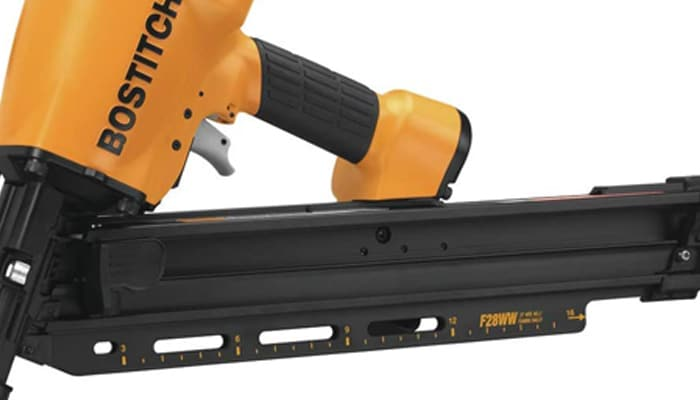 bostitch framing nailer, clipped head, 2-inch to 3-1.2-inch (f28ww)