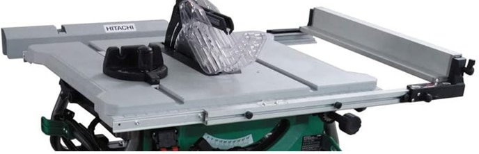 hitachi c10rj 15-amp jobsite table saw with rip capacity and fold and roll stand