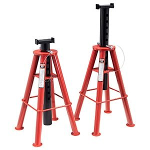 sunex 1410 10-ton, high height, pin type, jack stands