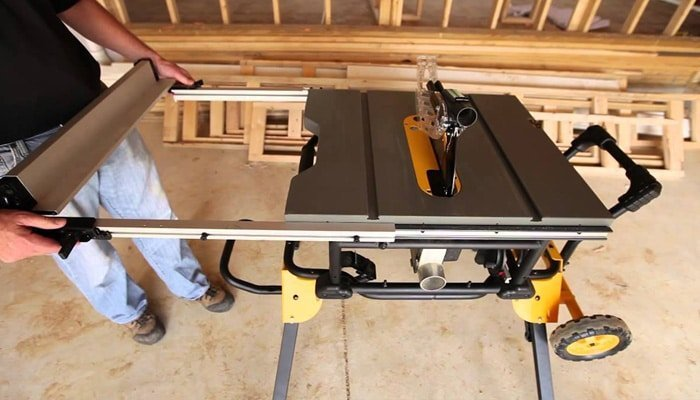 table saw table size