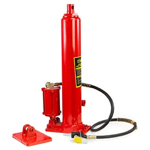 xtremepowerus 8 ton air/hydraulic long ram jack piston ram with 8-ton capacity