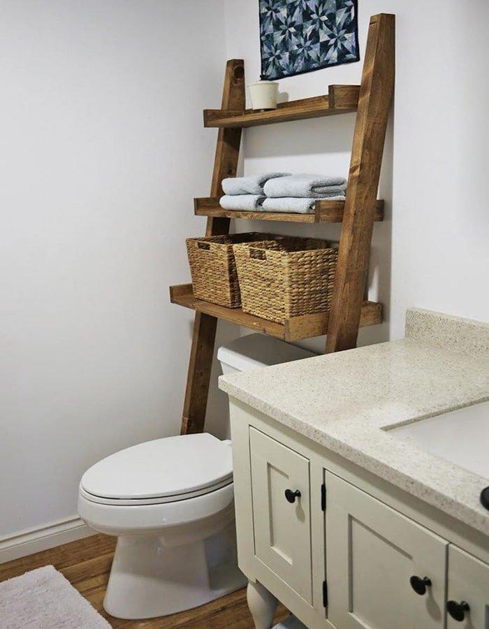 ana white bathroom ladder
