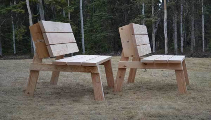 ana white's picnic table that converts to benches