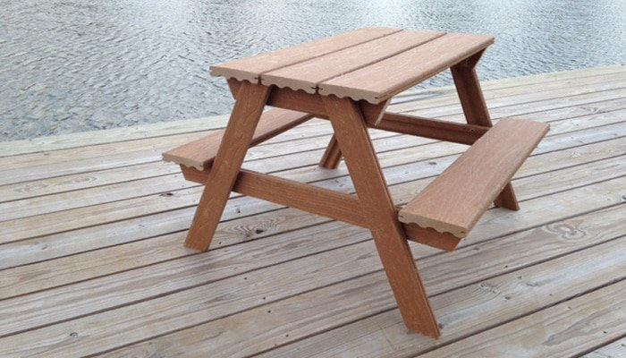composite decking kids picnic table plans