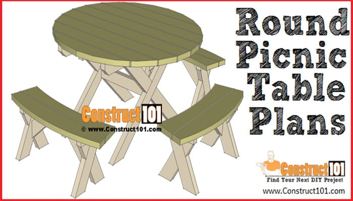 construct101's round picnic table plans