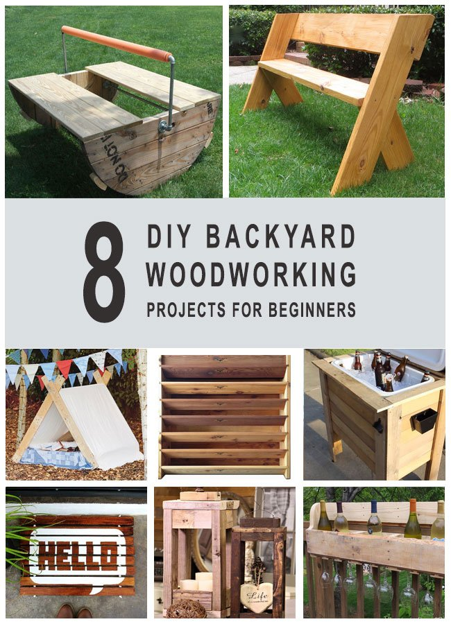 8 diy backyard woodworking projects for biginners