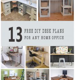 diy desk plans
