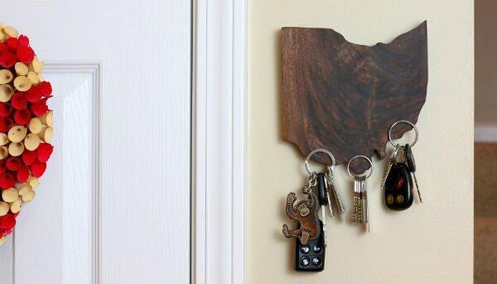 diy state pride magnetic key holder