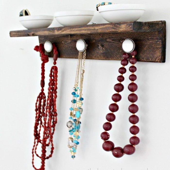 diy wooden jewelry organizer