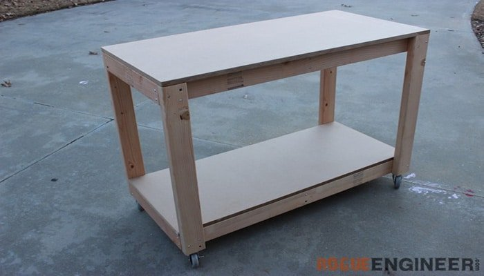 easy diy portable workbench